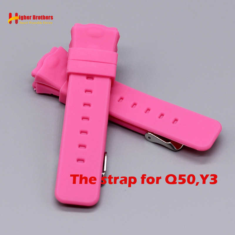 Q50 Y3 Replacement Strap Smart Safe GPS Location Finder Locator Tracker for Kid Son Child Baby Watch Wristwatch Strap for Q50 Y3