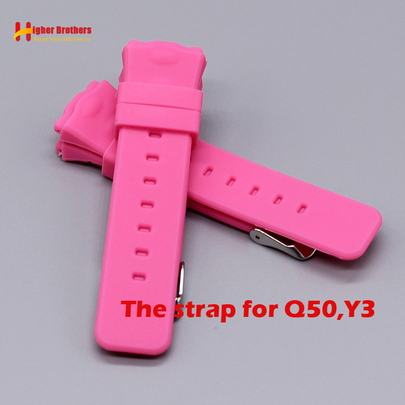 Q50 Y3 Replacement Strap Smart Safe GPS Location Finder Locator Tracker for Kid Son Child Baby Watch Wristwatch Strap for Q50 Y3 baby kids child smart gps watch universal protection tempered smartwatch glass screen film protector case for q50 t58 y3 2pcs
