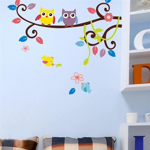 Kids Bedroom Decorations Animals 1016 Adesivo De Parede Cartoon