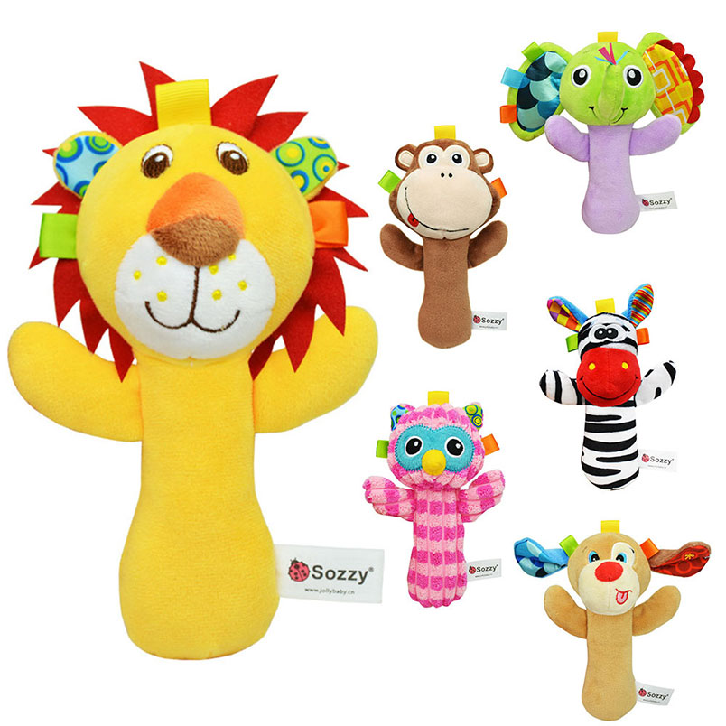 Baby Plush Rattles Infant Soft Appease Toys Developmental Interactive Toy Inf... Kleinkindspielzeug