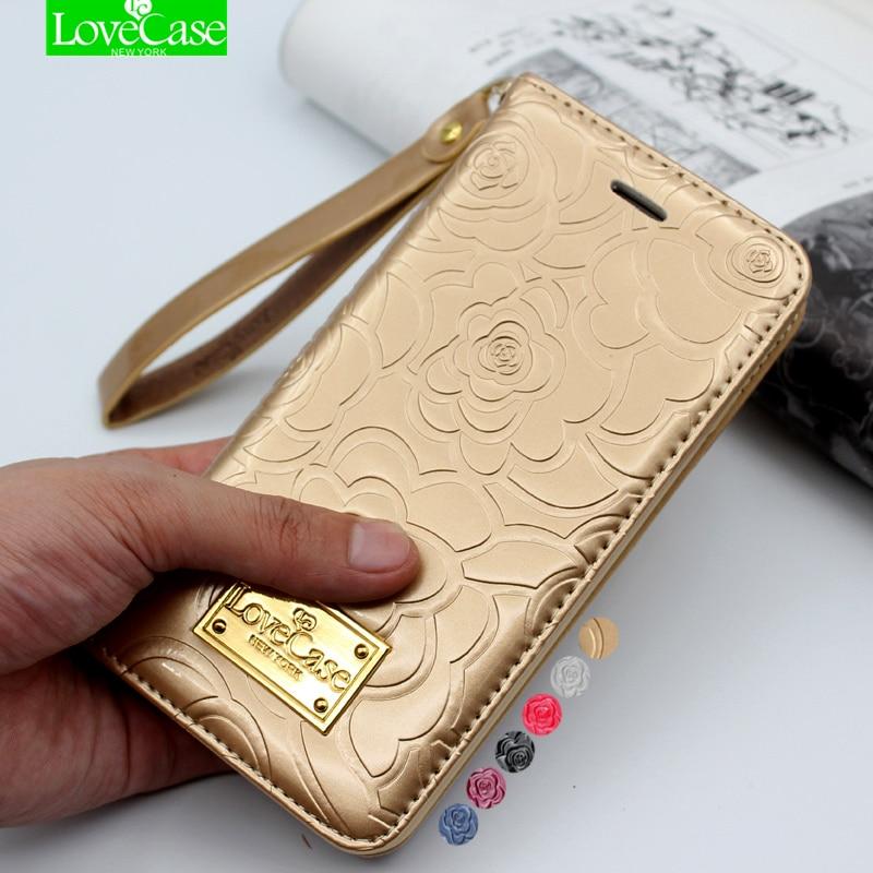 imágenes para Últimas 7 plus Caso tirón de la carpeta del Cuero de Patente de la camelia para el iphone 7 Más 7 Más Cuero Genuino Bolso del teléfono Bolsa de la Cubierta Del Teléfono Casos