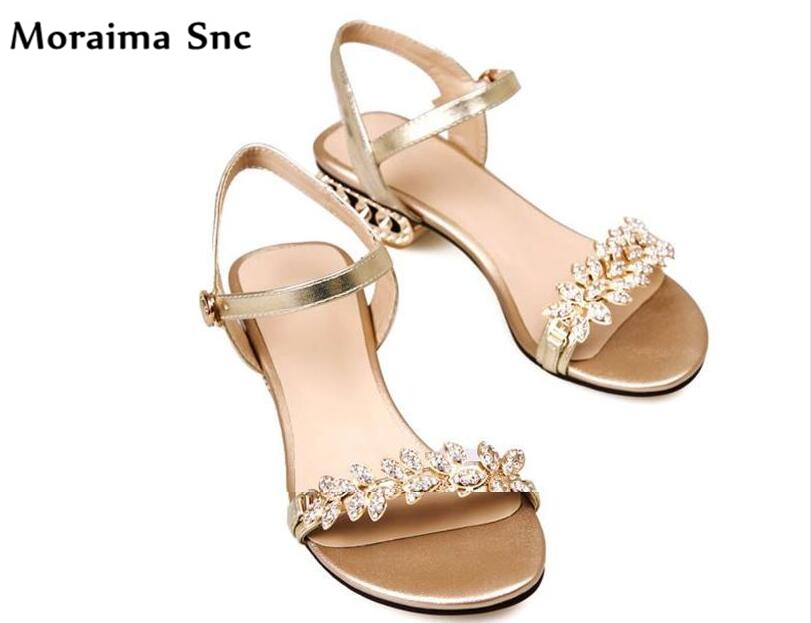 Moraima Snc Newest sexy women sandals fretwork heels crystal open toe slingback thin high heel Ankle strap buckle golden moraima snc newest sexy women black string bead concise type sandals open toe thin high heel ankle strap hook solid party shoes