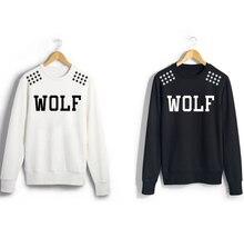 Exo album same xoxo wolf88 stars printed shoulder sweatshirt for men women kpop o neck pullover hoodies S-2XL 2 color