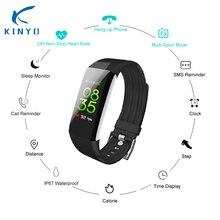 Kinyo 2018 sensible bracelet wristband 24h Non-Cease Coronary heart Charge Monitor Multi-Sport mode Dangle-up telephone sensible band pk xaomi mi band 3