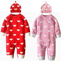 High Quality Cotton Baby Coveralls Fall And Winter Love Money With Hat Climbing Clothes Romper Baby