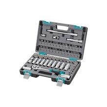 Набор инструментов STELS 14103 (60 предметов, хром-ванадиевая сталь и сталь S2, трещоточный ключ, торцевые головки, биты и др., противоударный пластиковый кейс)