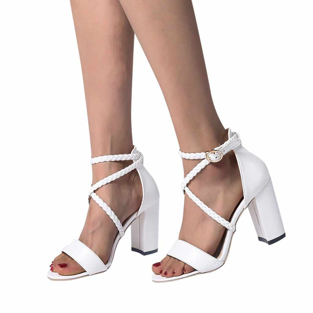 SAGACE High Heels Plus Sizes Sandals Summer Elegant Ladies Shoes Fashion  Thin Female Shoes Hollow Women Sandals High Heels