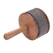 Деревянные Cabasa металлические бисерные цепи и цилиндр Pop ручной шейкер ударный инструмент для класса группы среднего размера