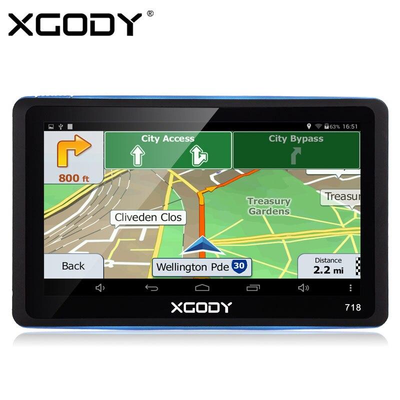 Xgody   Inch Car Truck Gps Navigation Bluetooth  Navigator Sat Nav System Unit Navigator Navite Free Europe Maps
