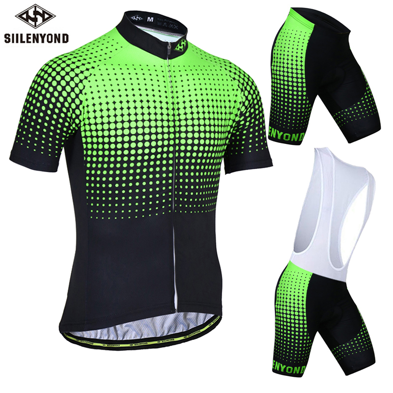 SIILENYOND Cycling Jersey 100% Polyester Cycling Clothing MTB Bike Clothes Jersey Sets Breathable Maillot Ropa Ciclismo For Men short sleeve breathable mtb bike clothing women bicycle clothes ropa ciclismo 100% polyester cycling jersey set maillot ciclismo