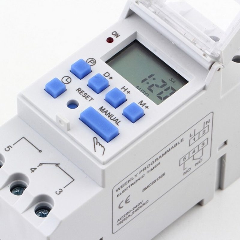 THC15A 220V 16A Digital LCD Power Weekly Programmable Timer Time Relay Switch Smart Home System Electronic Swtich Newest