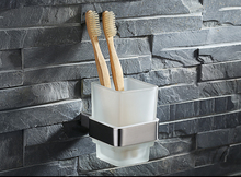 Новый стиль мода 304 из нержавеющей стали для ванной держатель кубок для зубных щеток, Матовый никель