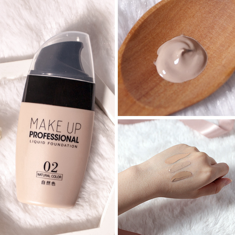 Face Foundation Concealer Cream Whitening Mineral Matte Base High Cover Professional Full Coverage Make Up Liquid Fondotinta image