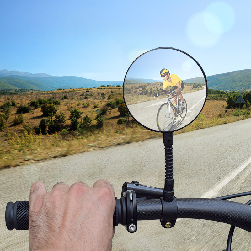 Convex Rearview Bicycle Rear Wide Range View Mirror for Cycling Bike Handlebar
