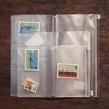 Сумка на молнии из ПВХ для ноутбука путешественника, аксессуар для карт, карман, сумка для хранения, A5/L, стандарт/M/S, 4 размера, для дневника из воловьей кожи