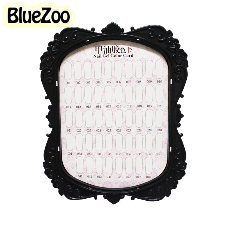 Bluezoo 2016 New Nail Color Display Card For Beauty Tips Polish