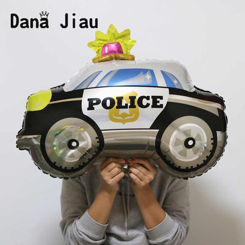 Mainan Besar Mobil Foil Balon Hadiah Tangki Pesawat Ambulans Bus Truk Pemadam Kebakaran Ulang Tahun Pesta Dekorasi Liburan Kartun Balon