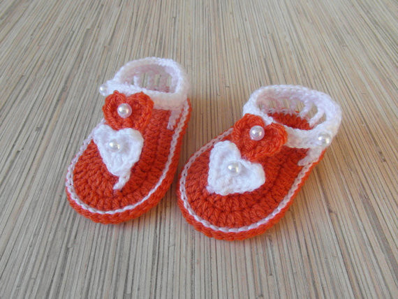 afdb7b0299ab5 US $7.13 5% OFF|White Crocheted Baby Sandals, Organic Cotton Cute newborn  Sandals,Baby girls shoes Newborn Girl Gift,size 9cm,10cm,11cm-in Sandals &  ...