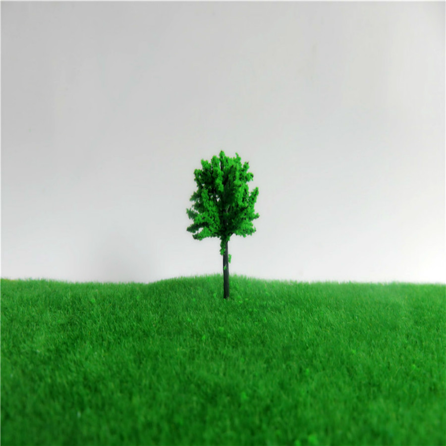 new architecture 3d scale artificial plastic model  green tree  layout164