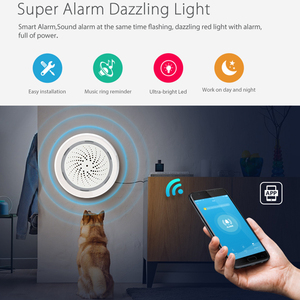 Image 5 - Lonsonho Tuya Wireless Smart Wifi Alarm Siren Smart Sirena Alarma With Temperature Humidity Sensor 3 In 1 Smart Life APP