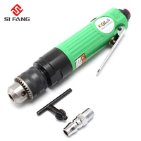 3/8''Straight Shank Air Drill With Gear Reinforced 1.0 10mm Straight Pneumatic Drill Drilling Machine Adjustable Speed