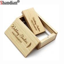 SHANDIAN wooden USB flash drive pendrive 8GB 16GB 32GB