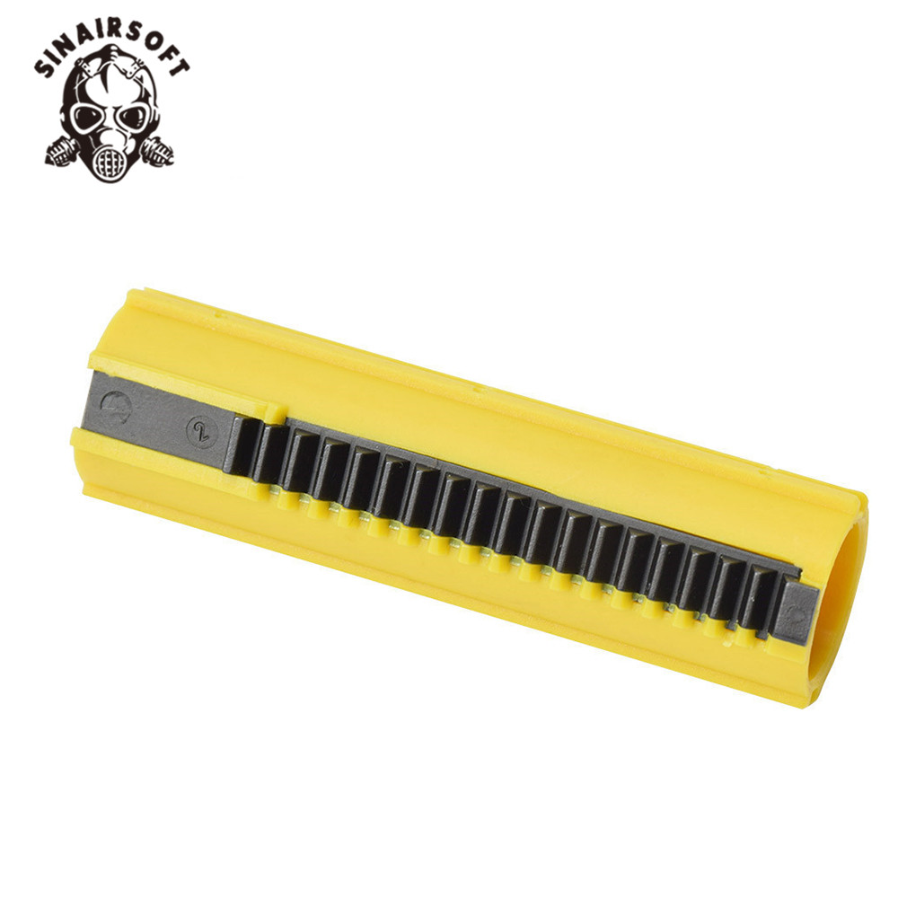 SINAIRSOFT SHS Yellow 19-tooth Full Metal Rack Piston For SR-25 And L85 Series Can Be Used Airsoft Gearbox Hunting Accessories