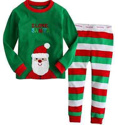 prezzo più basso 88ec3 e94b0 US $16.59 |NUOVO set cartoon bambini pigiama per bambini abbigliamento  bambino bambina famiglia di natale Santa pigiama tuta pigiami del bambino  in ...