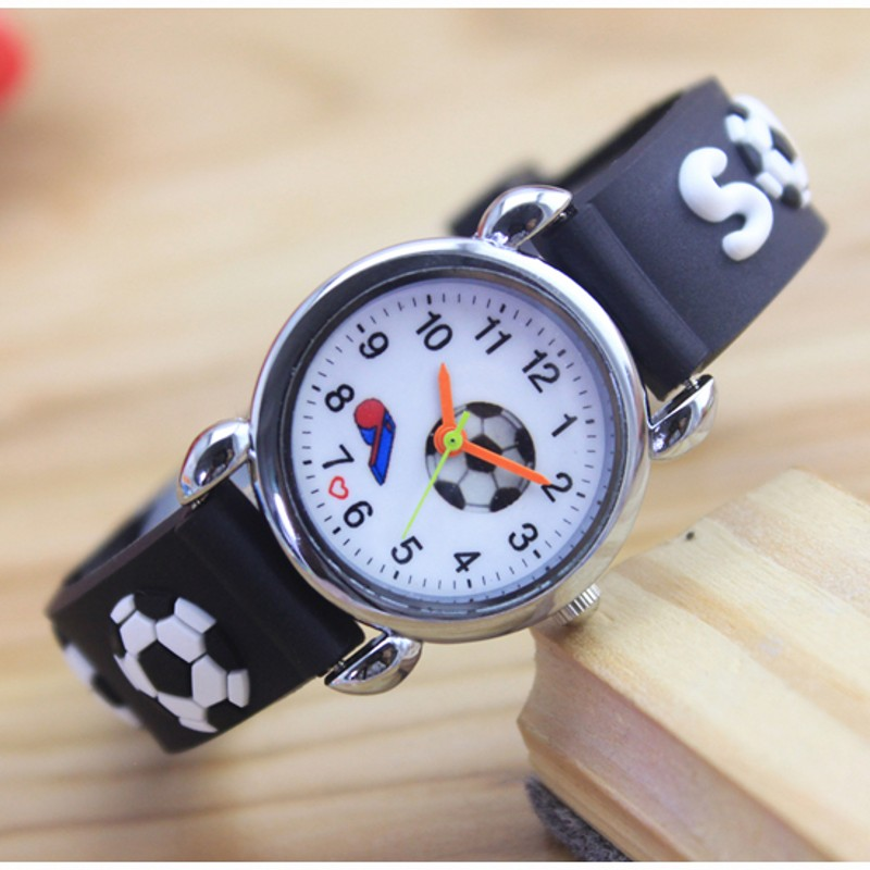3D Cartoon Fashion Regarder Silicone Football Kids Watch Children Girls Boys Students Quartz Wristwatches Relogio Kol Saati