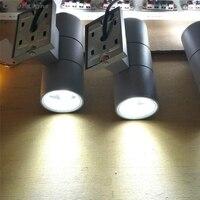 10 unids/lote luz exterior con led 12 w luces de exterior 6 W * 2 negro/gris