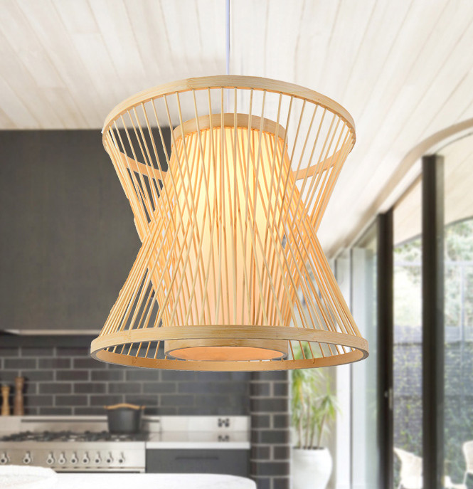 Classical rustic hand knitting bamboo art Pendant Lights Modern vintage E27 LED lamp for porch&parlor&stairs&corridor LHDD044 southeast asia style hand knitting bamboo art pendant lights modern rural e27 led lamp for porch