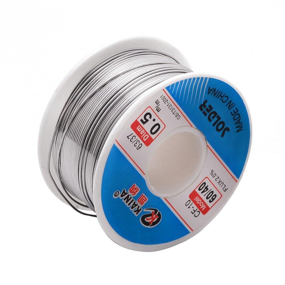 0.5mm 63//37 100G Tin Lead Solder Wire Rosin Core Soldering 2/% Flux Reel Roll