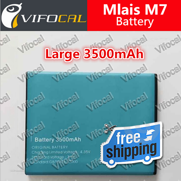Mlais M7 Battery 3500mAh 100% New Cell Phone Replacement backup Bateria For Mlais M7 Plus Mobile Phone