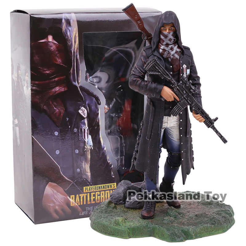 PUBG Playerunknown Crença de Campos de Batalha do Mestre Assassino do Sexo Masculino Roupas 98 K M416 PVC Figura Collectible Toy Modelo