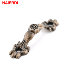 NAIERDI 10pcs Box Handle 43*10MM Zinc Alloy Knobs Arch Tracery Bronze Tone For Drawer Wooden Jewelry Box Furniture Hardware