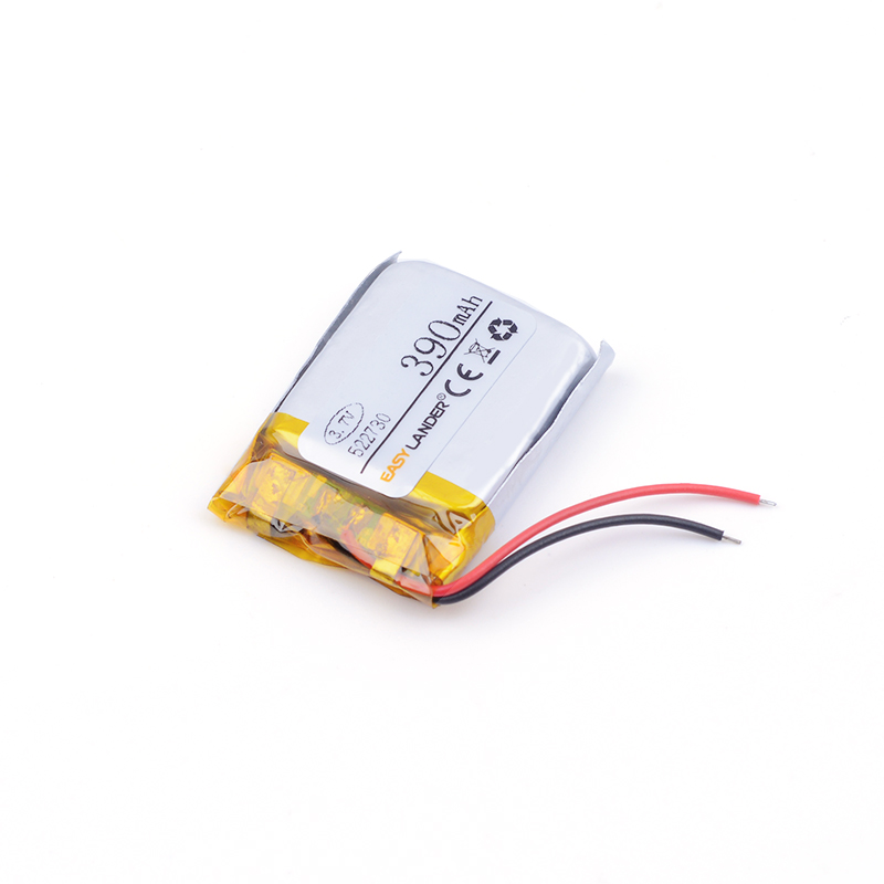 3.7V lithium polymer battery 522730 390MAH <font><b>Bluetooth</b></font> <font><b>headset</b></font> wireless <font><b>telephone</b></font> sound card Rechargeable Li-ion Cell