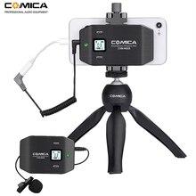 Kablosuz akıllı telefon mikrofon Comica CVM WS50 (C) 6 kanal yaka yaka mikrofonu iPhone Samsung Huawei Android telefon