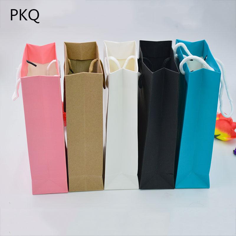 acheter / blanc sac cadeau en papier kraft avec poignées 27x9.5x32cm