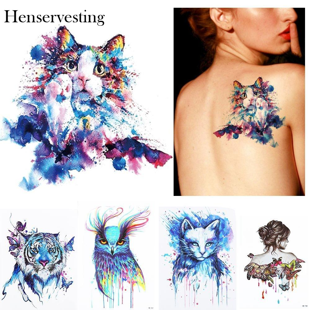 Temporary Art Colorful Summer Waterproof Painting 1Pc Animals Drawing Beach New Tattoo 3D Sticker Body