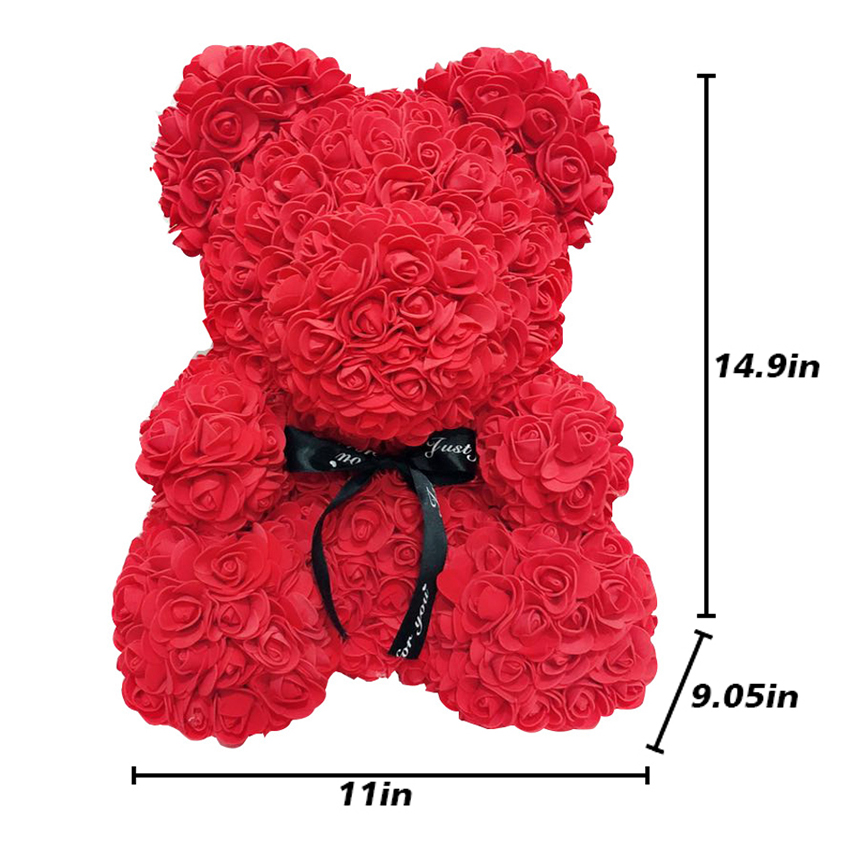 Christmas Gifts For Women 2019.2019 Drop Shipping 40cm Big Red Teddy Bear Rose Flower