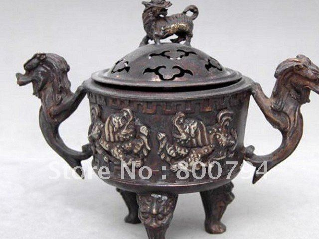 Collectable Qing Dynasty copper Dragon  Incense Stove\Censer,with carved, DecorationCollectable Qing Dynasty copper Dragon  Incense Stove\Censer,with carved, Decoration