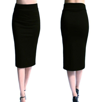 2018 New Women Skirt Mini Bodycon Skirt Office Women Slim Knee Length High Waist Stretch Sexy Pencil Skirts Jupe Femme AQ801944 1
