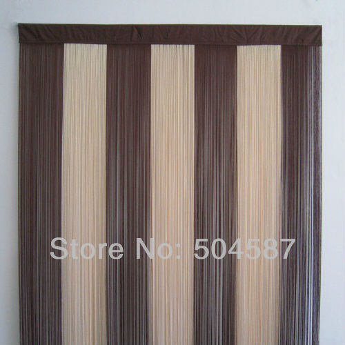 Beige Brown Multicolor String Curtains For Backdrops And Room Dividers 36x78