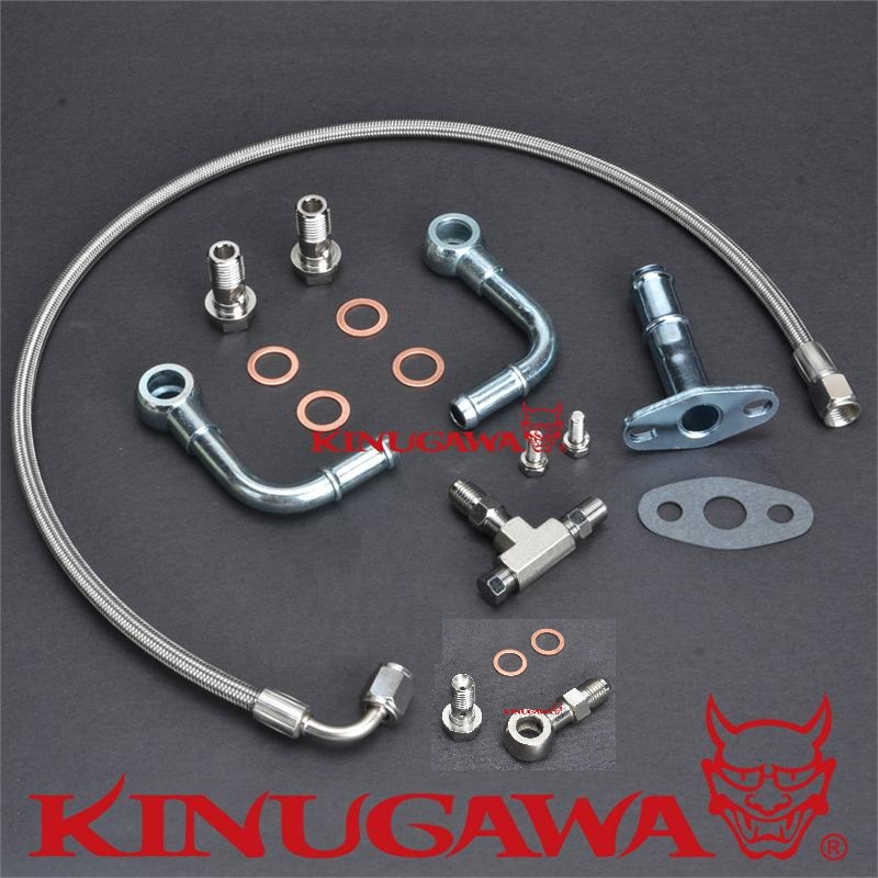 Kinugawa Turbo Oil and Water Line Kit M10 x 1.25 for Mitsubishi TD05 TD06 kinugawa turbo oil