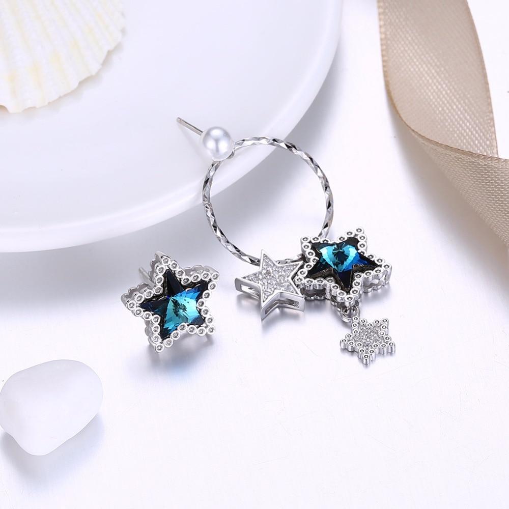 Pendientes de joyería fina con forma de estrella de cristal - Joyas - foto 3