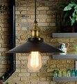 (6pcs/lot)Vintage pendant lights copper iron hanging lamp E27 110/220V ceiling pendant lamp for home decor Lampara colgante