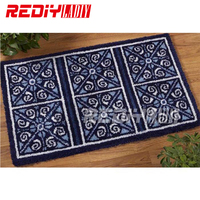 DIY Carpet Rug Classic Blanket Latch Hook Rug Kits 3D Crocheting Tapestry 100% Acrylic Yarn Cushion Set for Embroidery Floor Mat