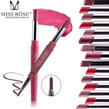 New MISS ROSE Lipstick Matte Waterproof Velvet Lip Stick 14 Colors Sexy High Quality Pigments Makeup Lipsticks Beauty Lips