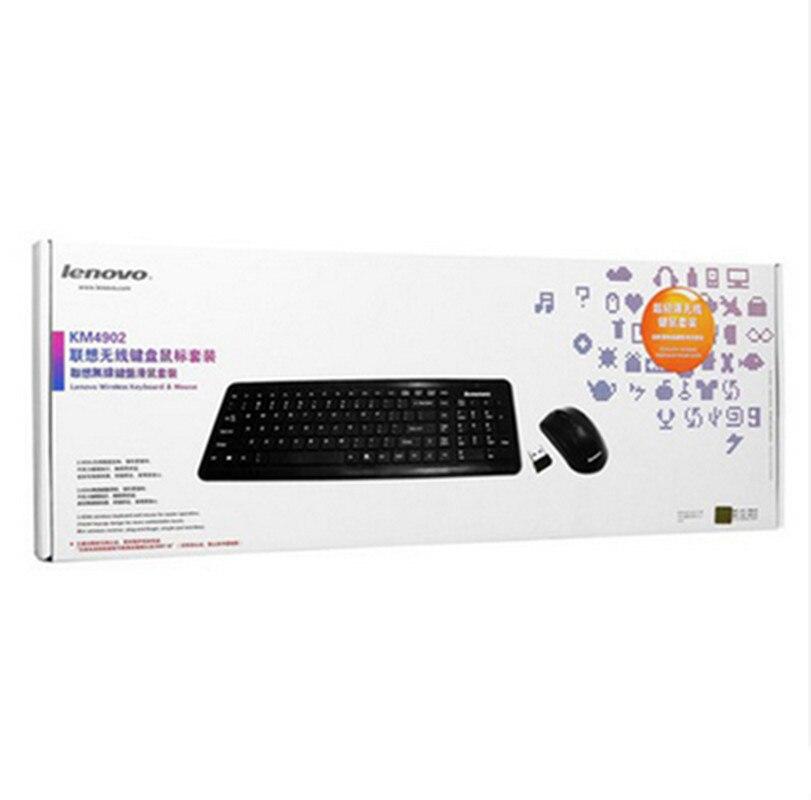 Free shipping Lenovo original wireless keyboard mouse KM4902 Ultra-thin laptop chocolate wireless key mouse suit