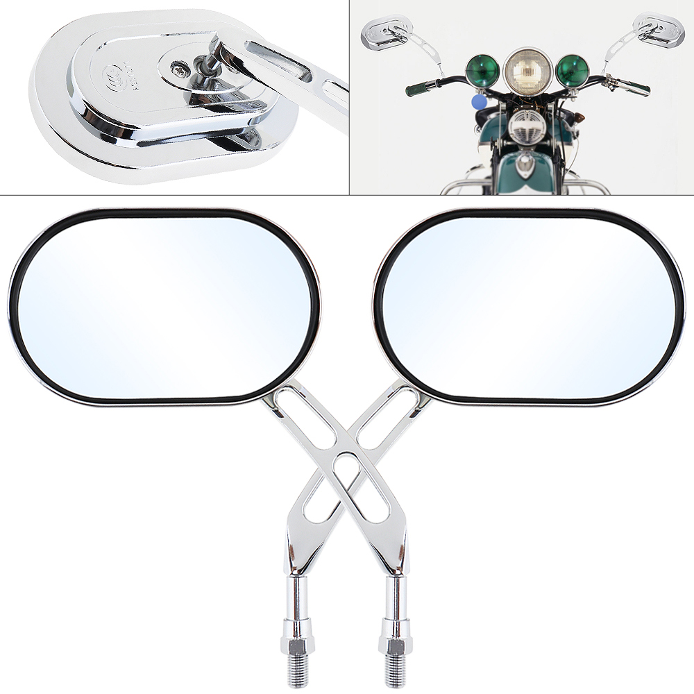2pcs 10mm Modified Universal Motorcycle Rearview Mirror Side Mirrors Left and Right for Motorbike